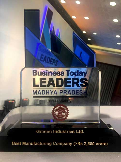 Business Today, India's leading business magazine organised the Business Leaders of Madhya Pradesh Awards at Bhopal to recognise the best companies in Madhya Pradesh.